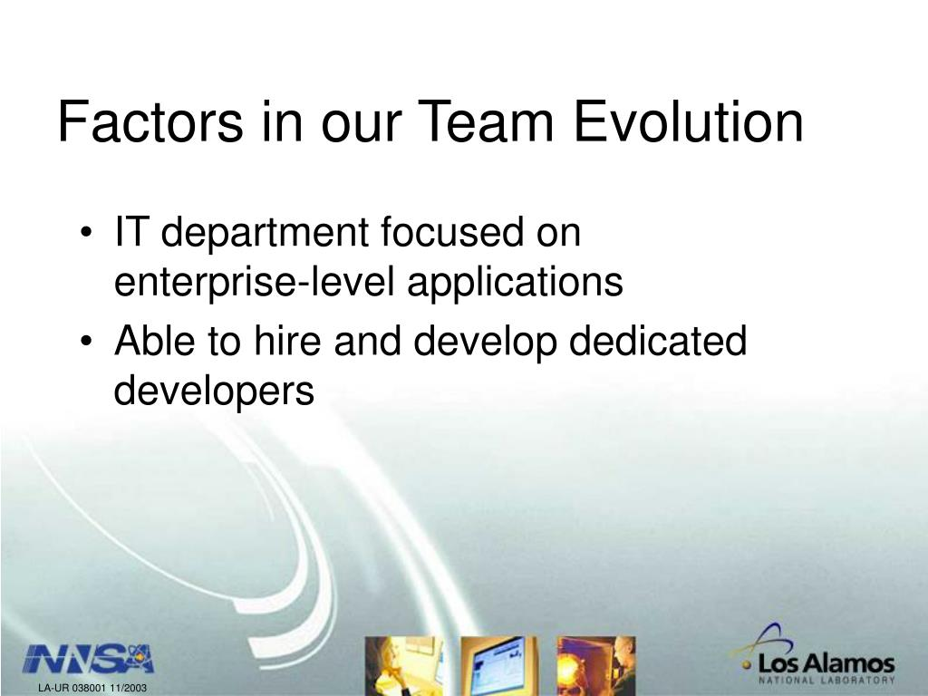 Factors in our Team Evolution