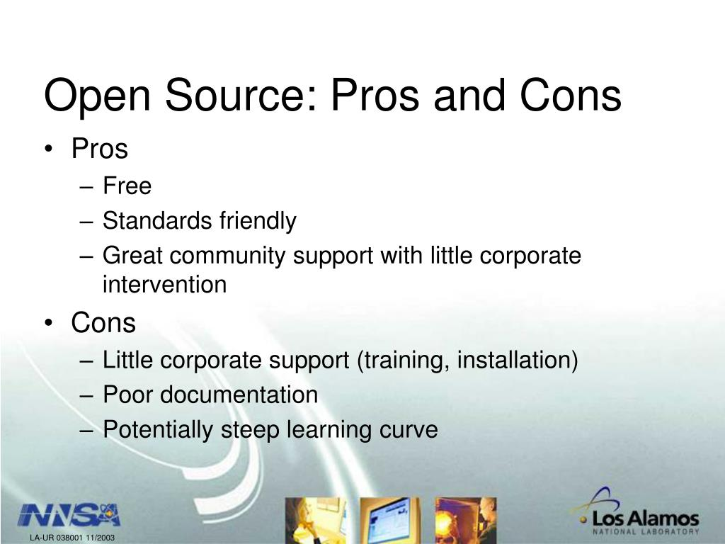 Open Source: Pros and Cons