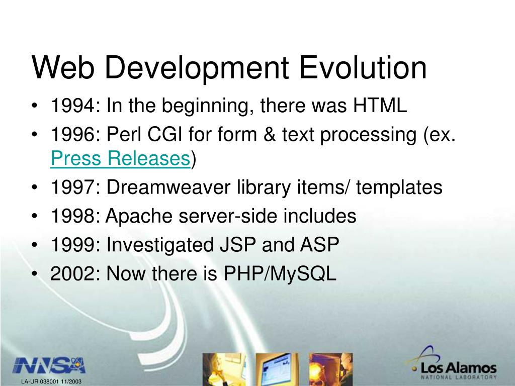 Web Development Evolution