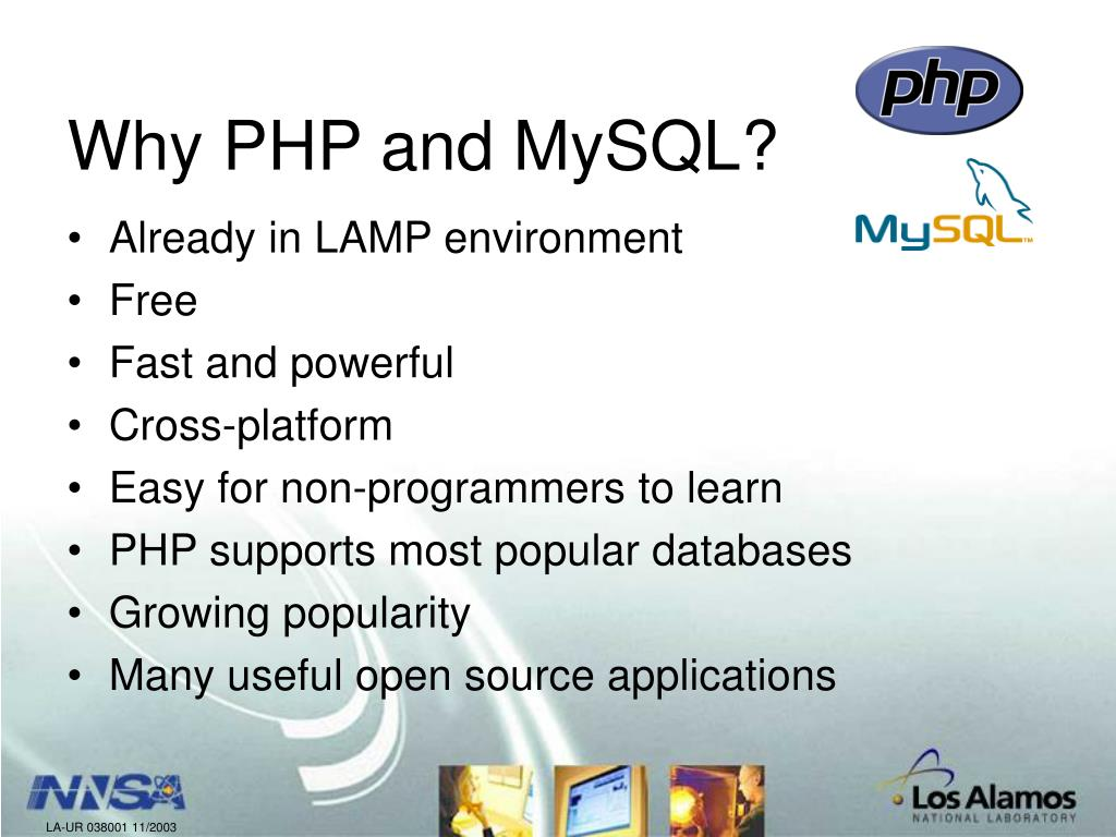 Why PHP and MySQL?