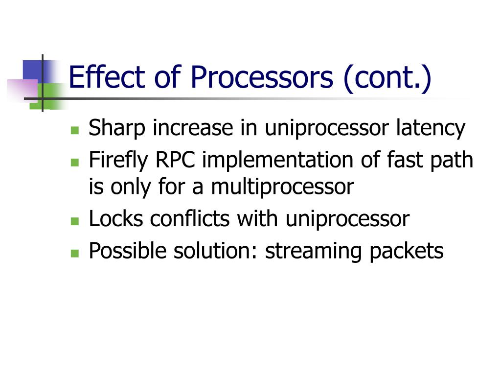 Effect of Processors (cont.)