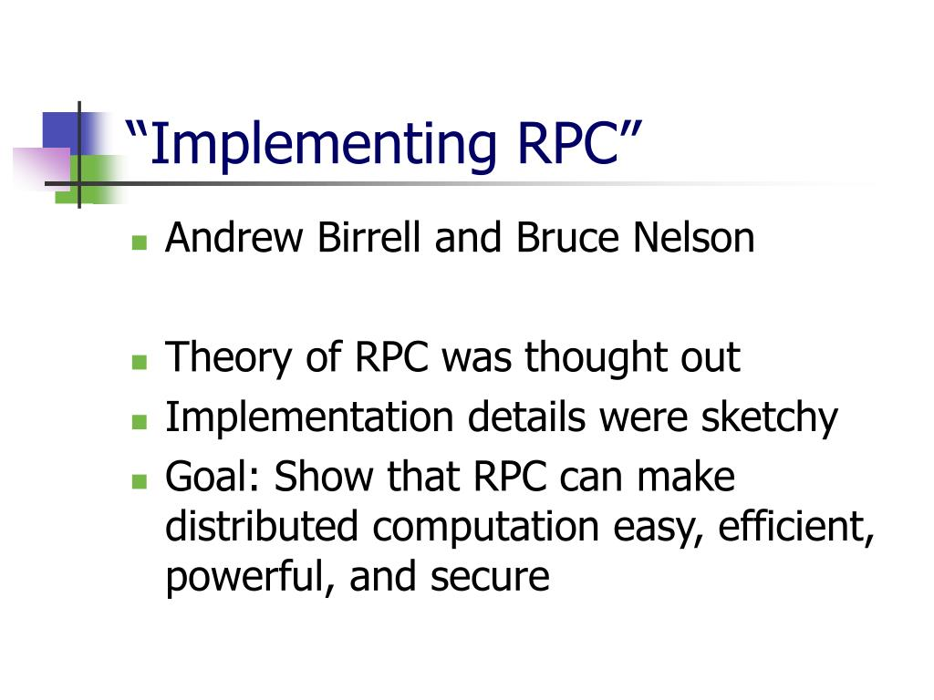 """""""Implementing RPC"""""""