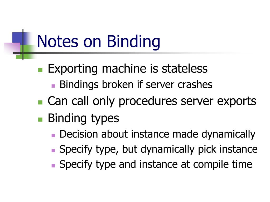 Notes on Binding