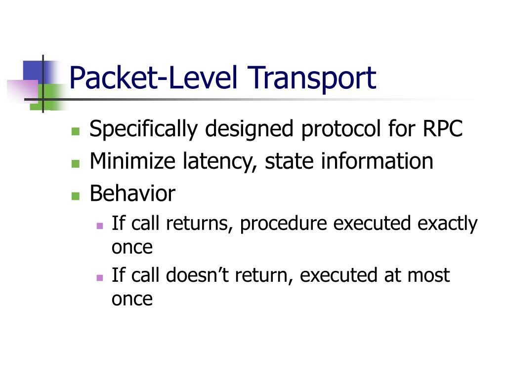 Packet-Level Transport