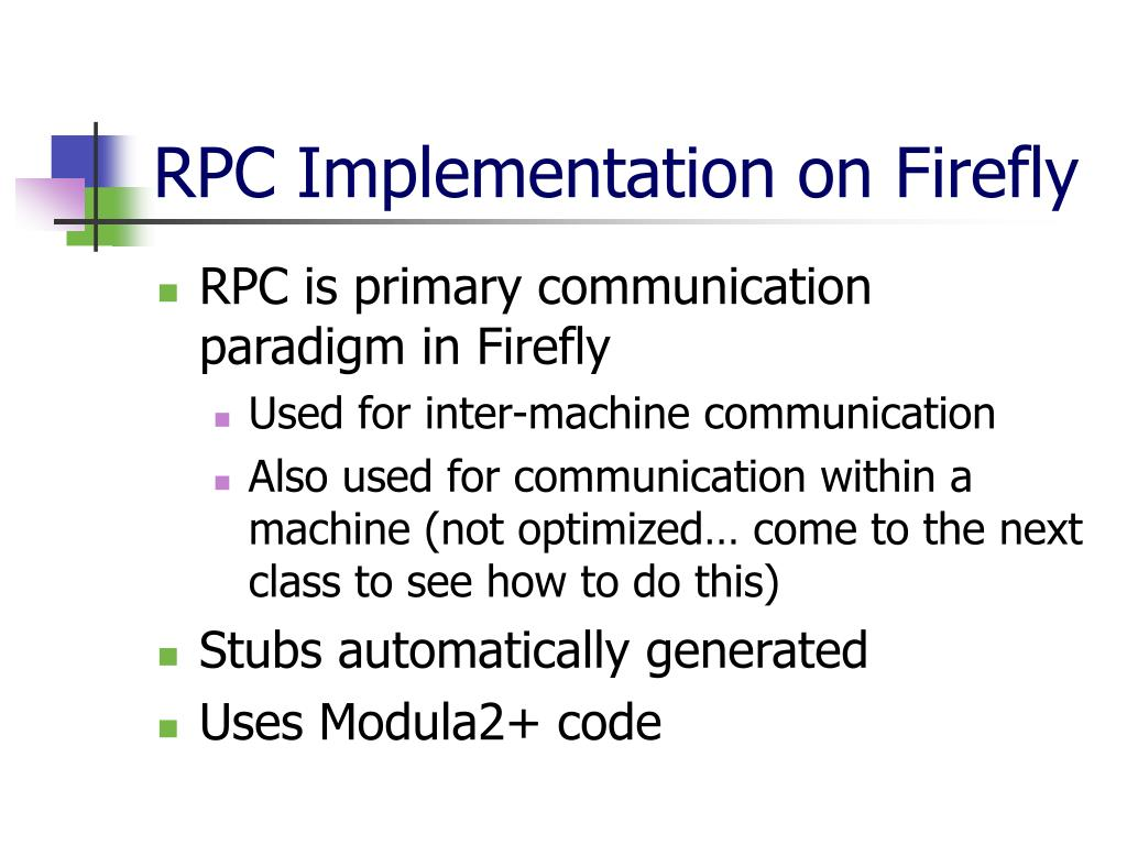 RPC Implementation on Firefly