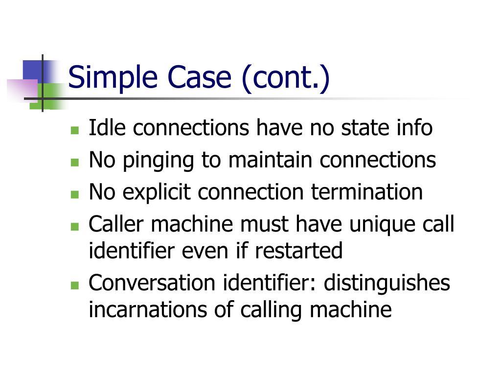 Simple Case (cont.)