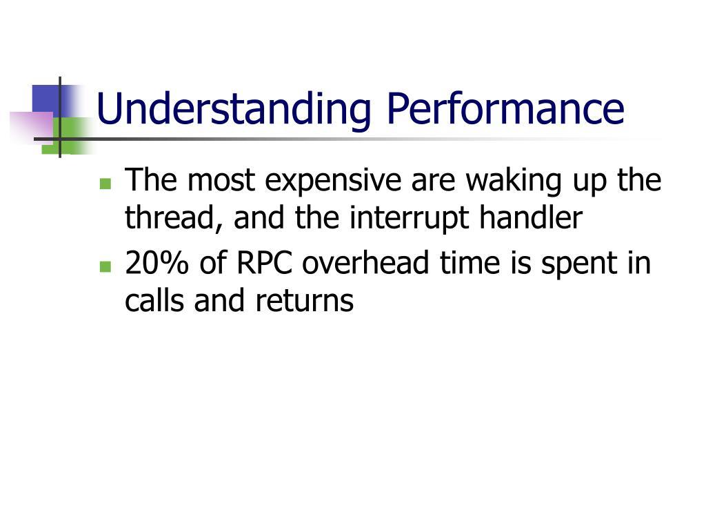 Understanding Performance