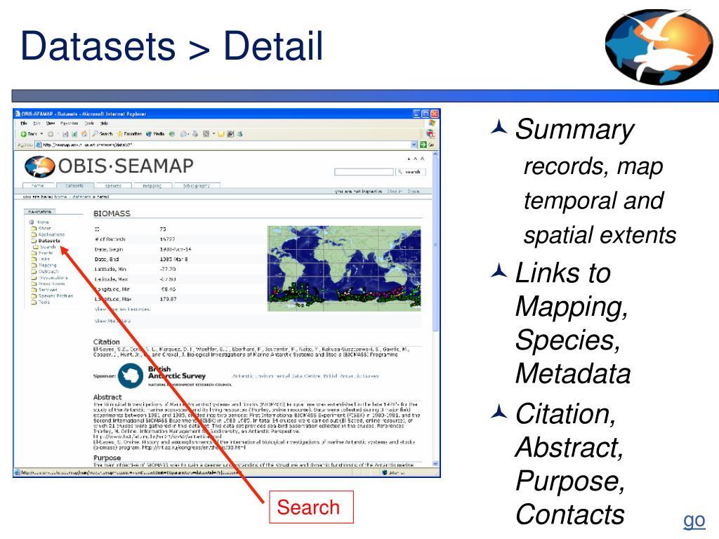 Datasets > Detail