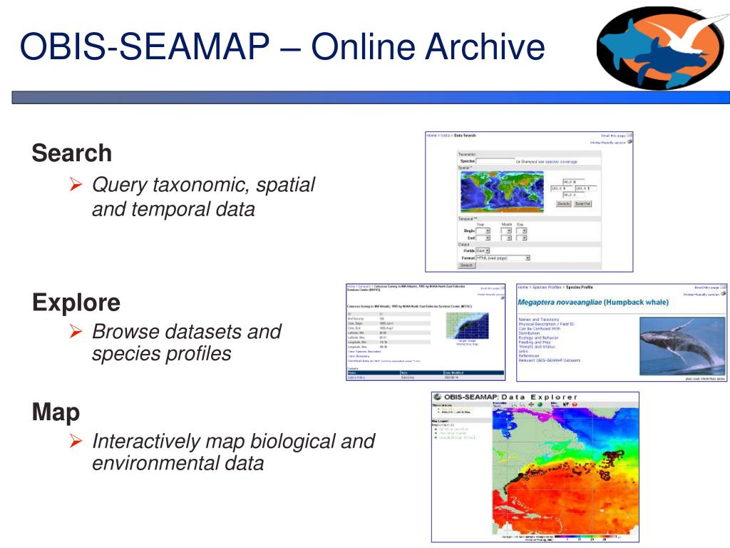 OBIS-SEAMAP – Online Archive
