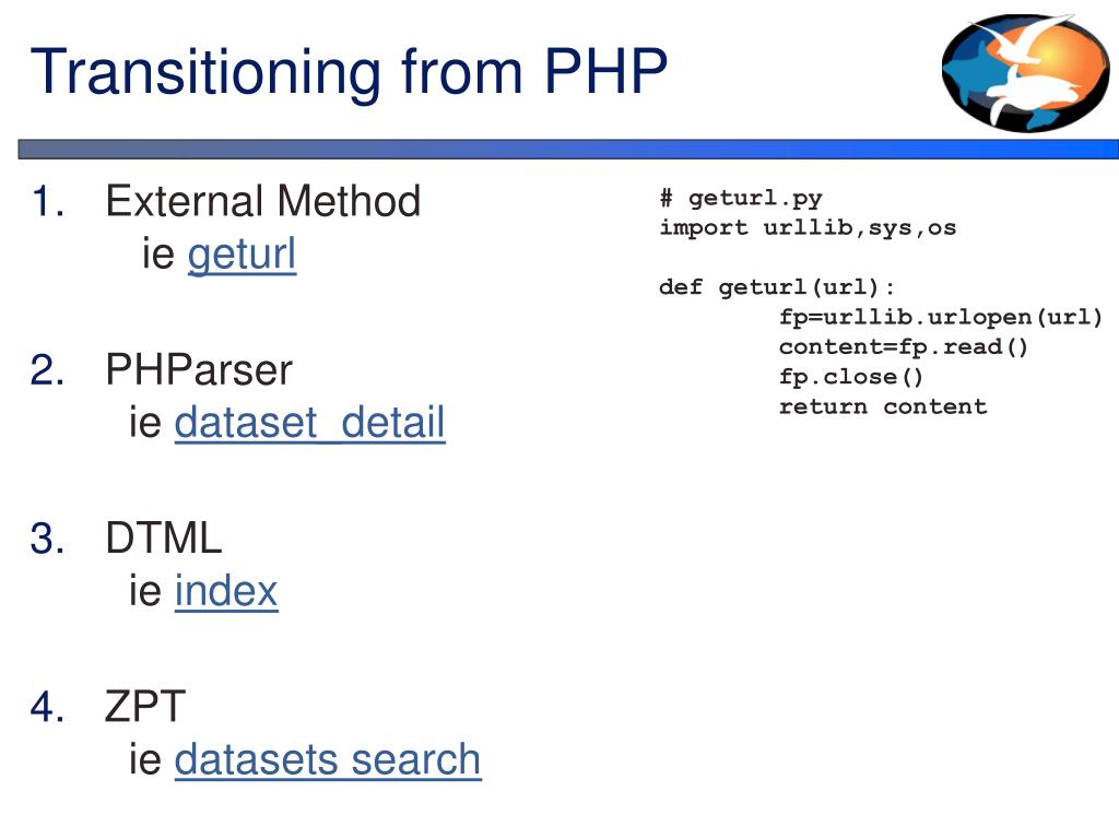 Transitioning from PHP