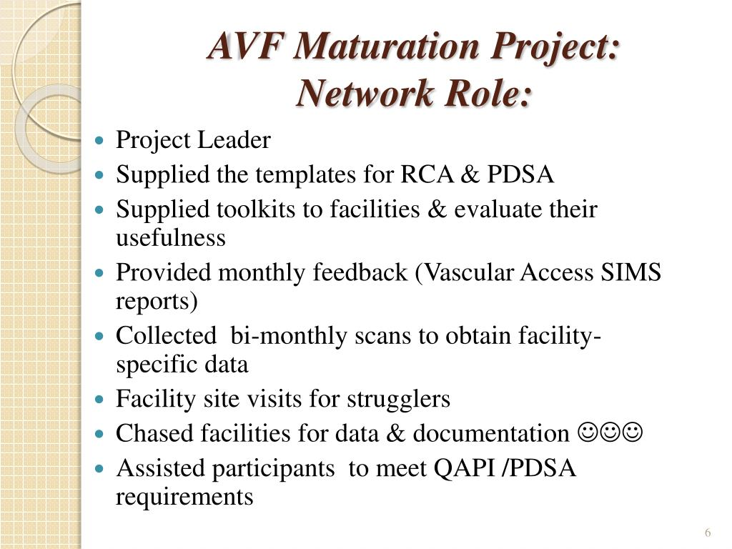 AVF Maturation Project: