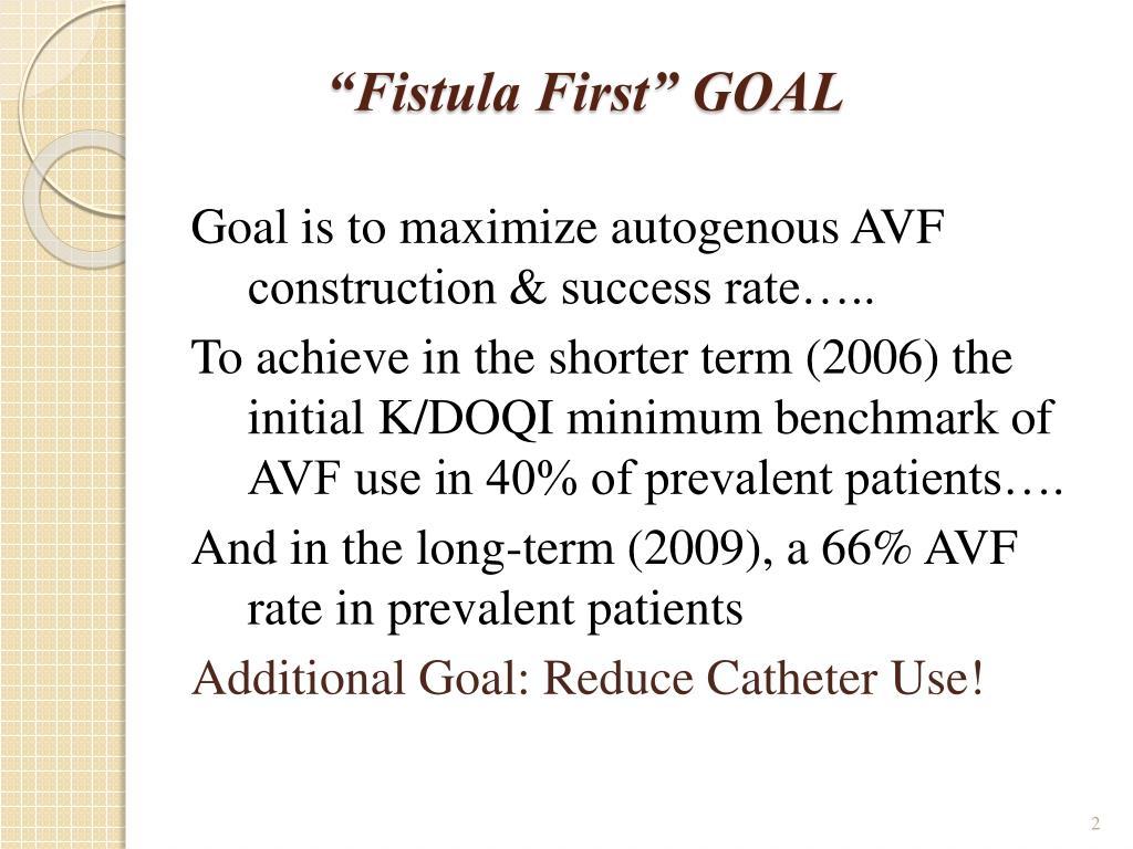 """Fistula First"" GOAL"