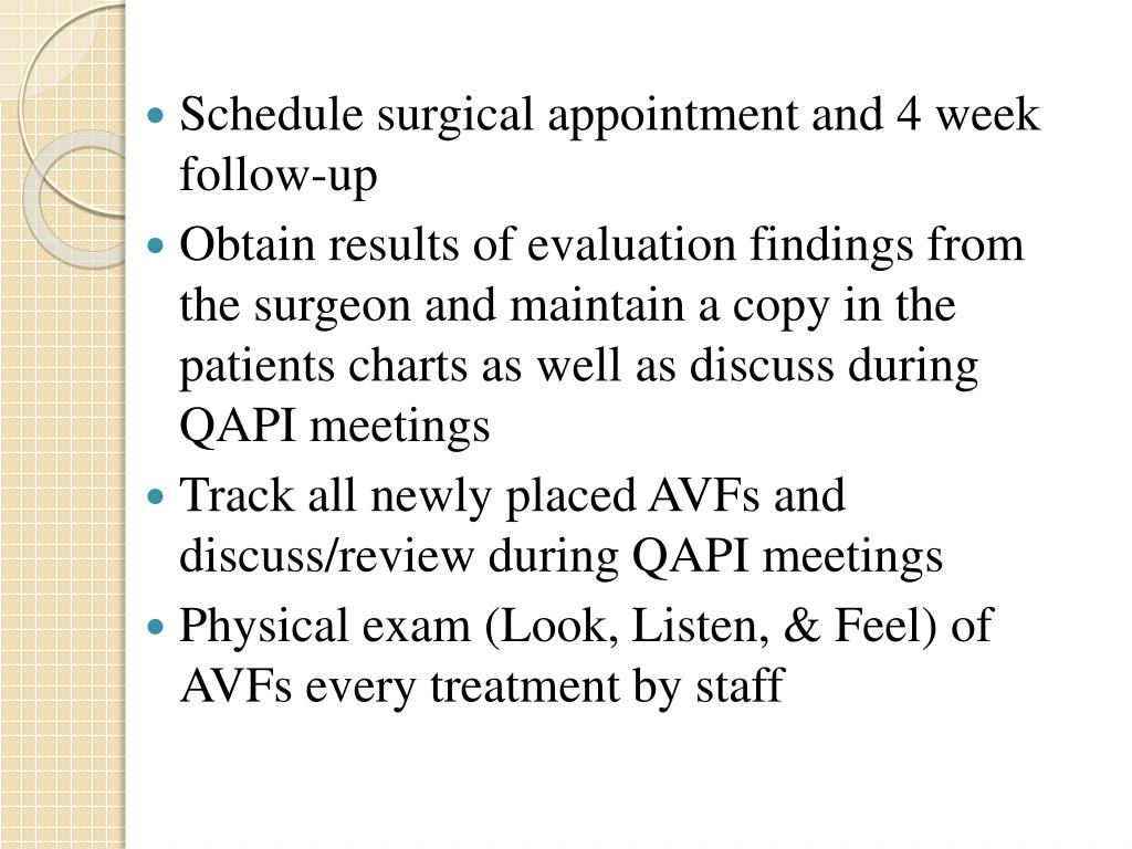 Schedule surgical appointment and 4 week follow-up