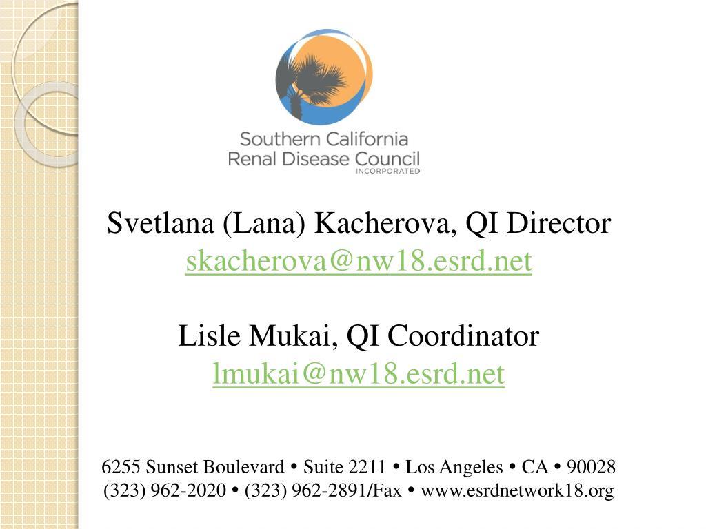 Svetlana (Lana) Kacherova, QI Director