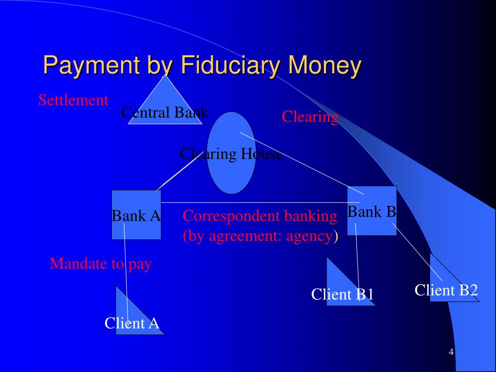 Payment by Fiduciary Money