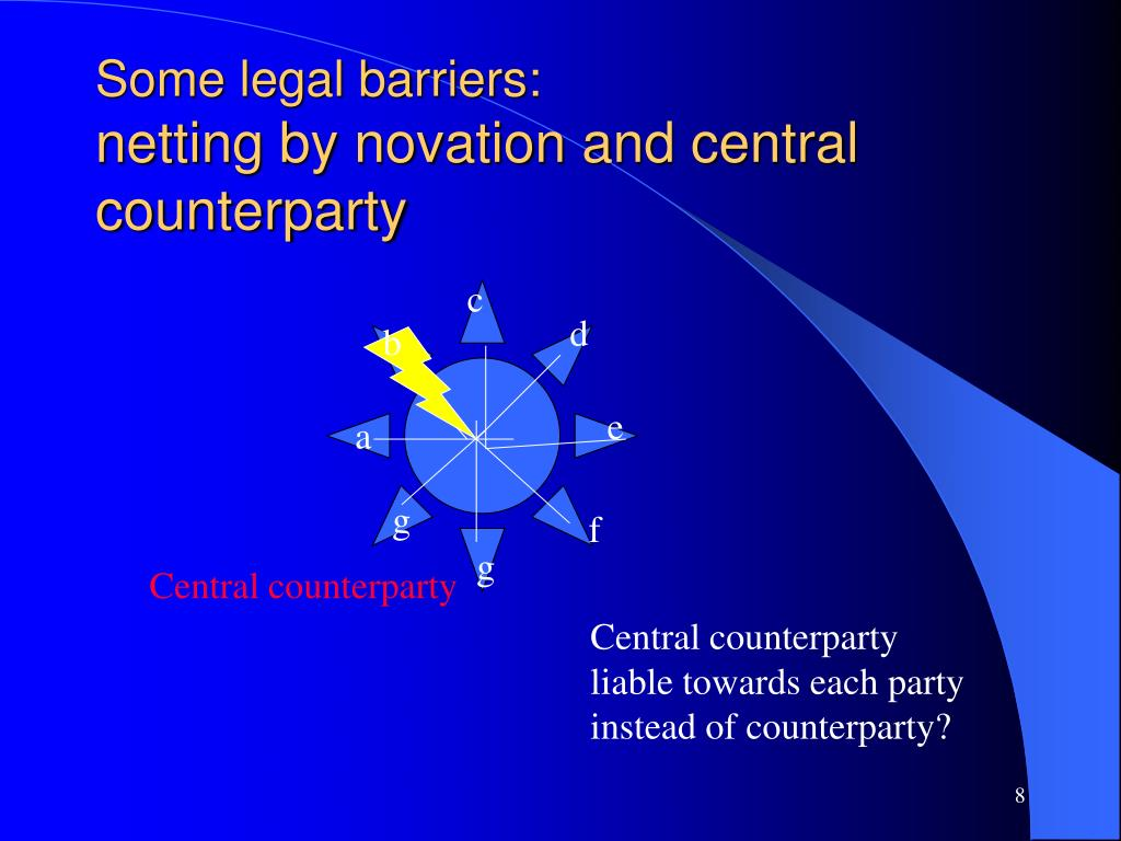 Some legal barriers: