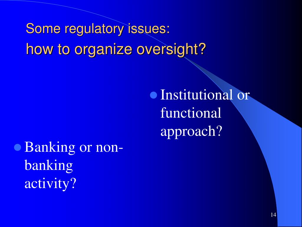 Banking or non-banking activity?