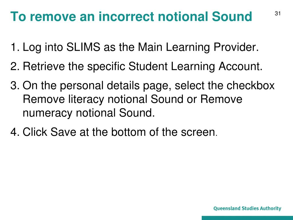 To remove an incorrect notional Sound