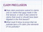 claim preclusion