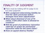 finality of judgment