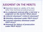 judgment on the merits