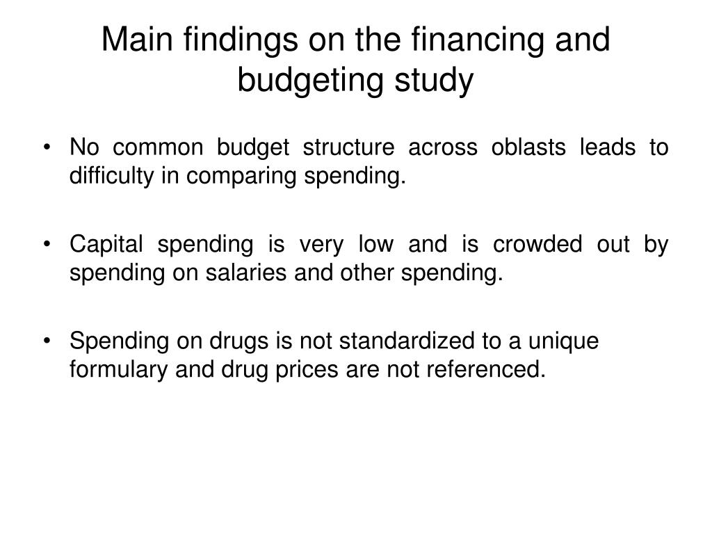 No common budget structure across oblasts leads to difficulty in comparing spending.