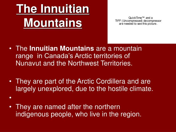 The Innuitian Mountains