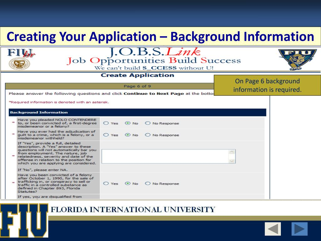 Creating Your Application – Background Information