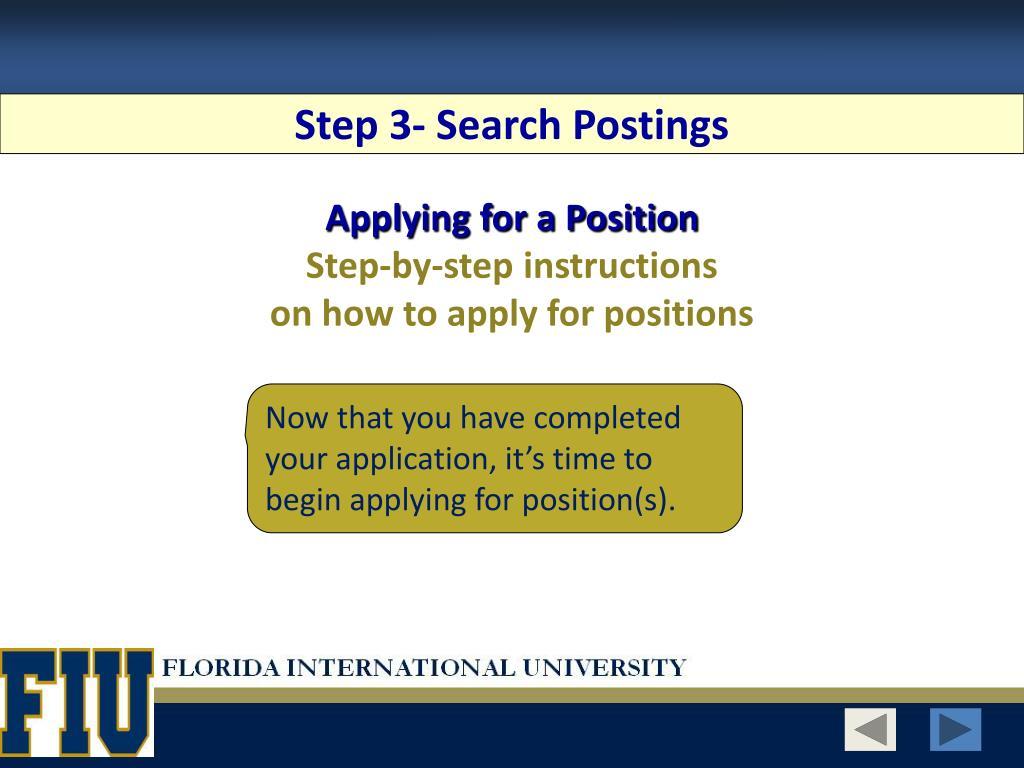 Step 3- Search Postings