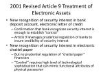 2001 revised article 9 treatment of electronic assets