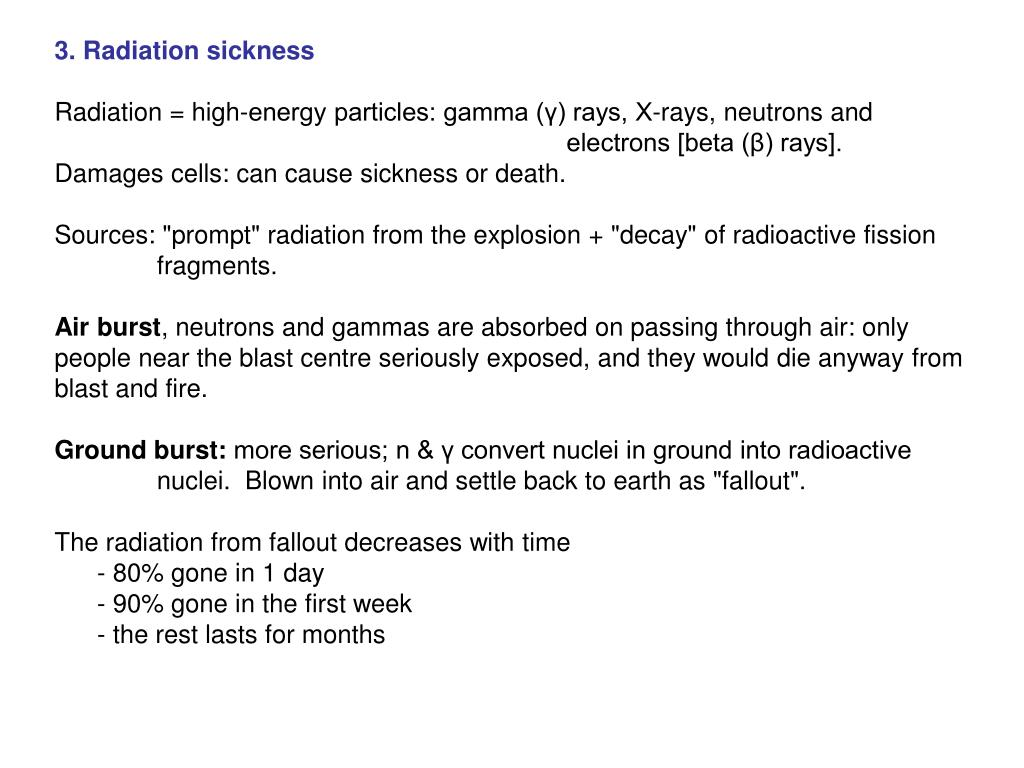 3. Radiation sickness