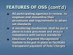 features of oss cont d12