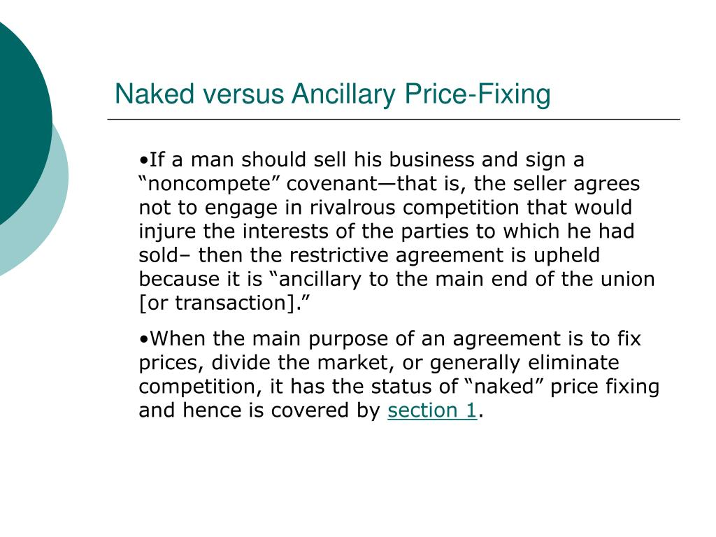 Naked versus Ancillary Price-Fixing