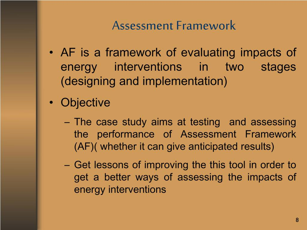 Assessment Framework