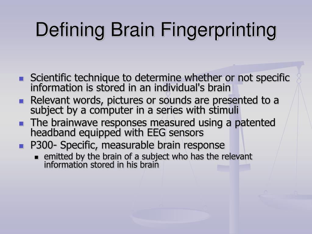 Defining Brain Fingerprinting