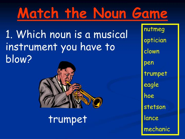 Match the Noun Game