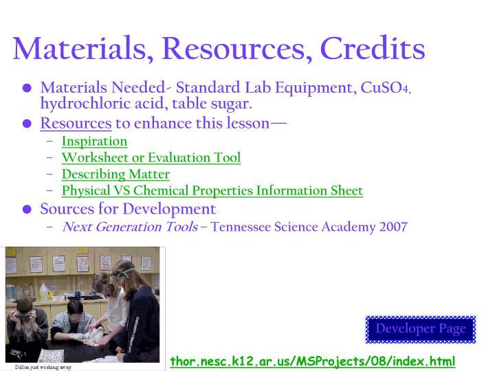 Describing matter worksheet