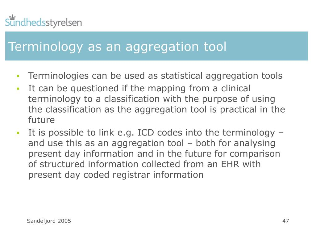 Terminology as an aggregation tool