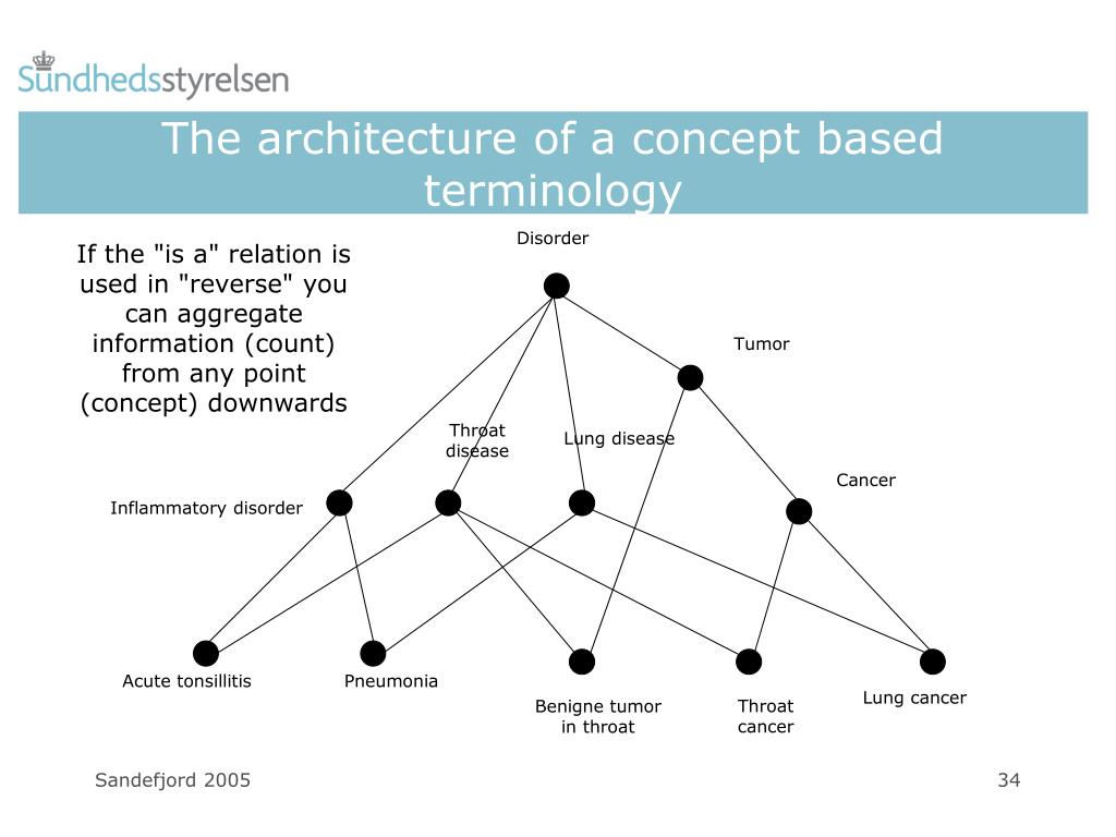 The architecture of a concept based terminology