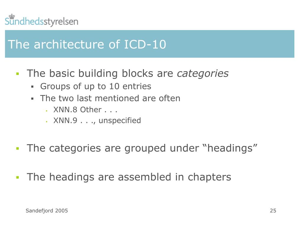 The architecture of ICD-10