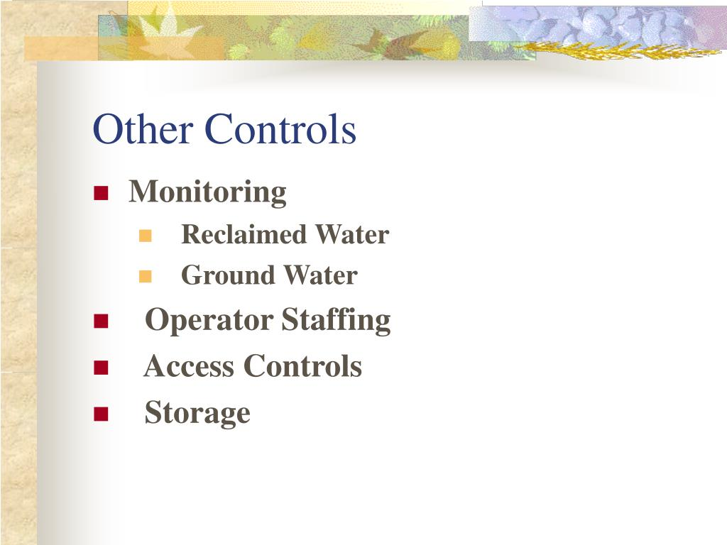 Other Controls