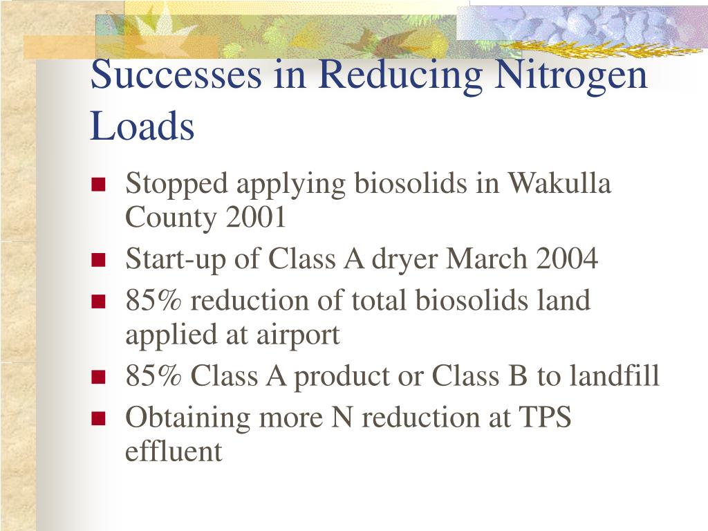 Successes in Reducing Nitrogen Loads