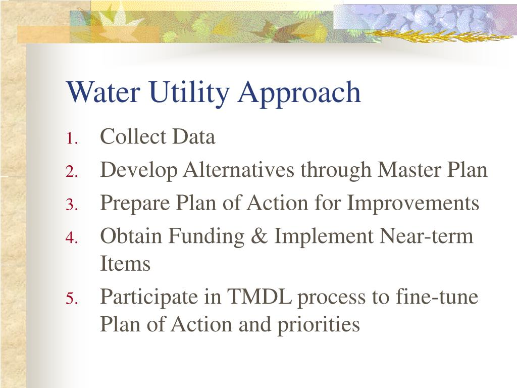 Water Utility Approach