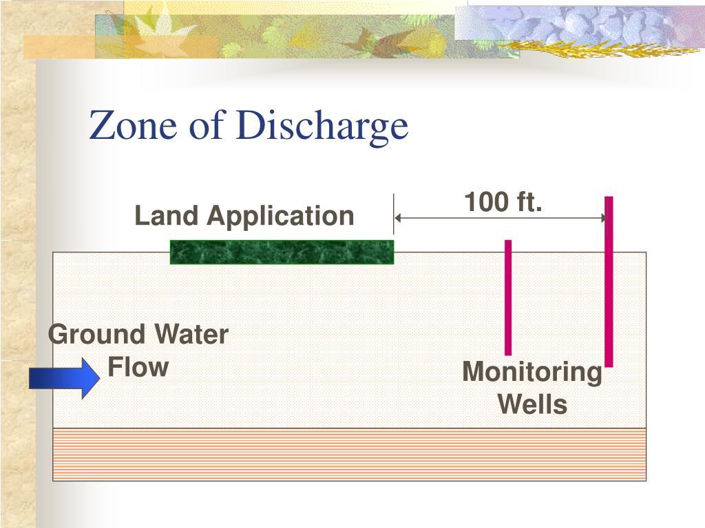 Zone of Discharge