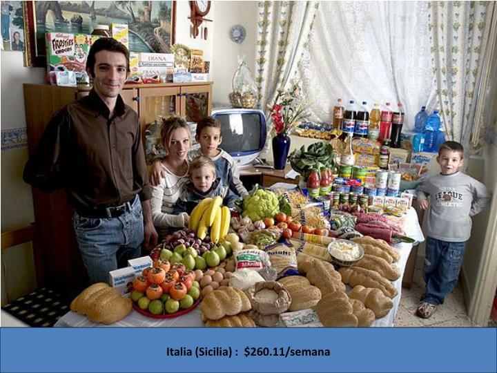 Italia (Sicilia) : $260.11/semana