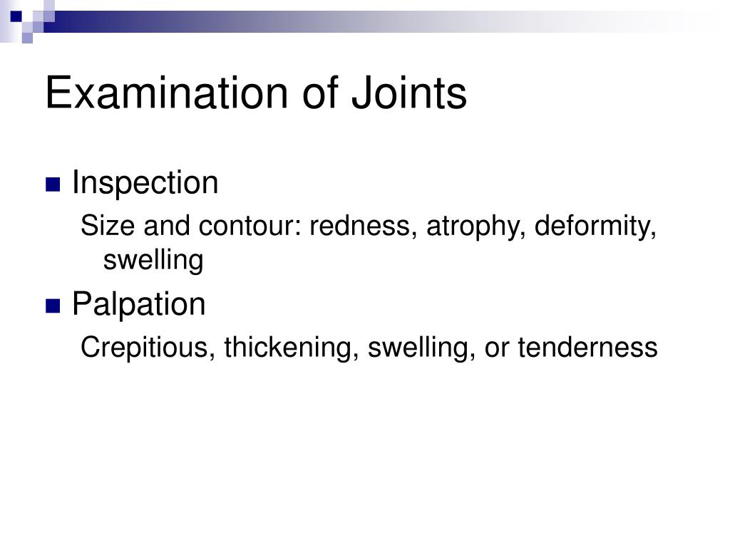 Examination of Joints