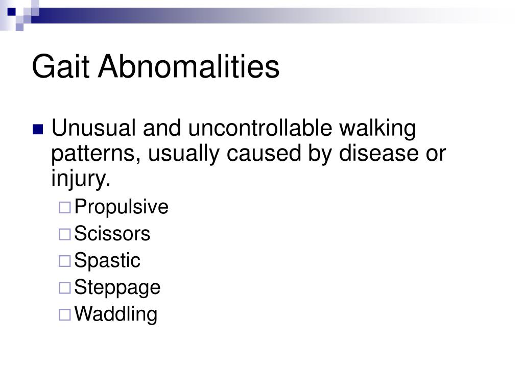 Gait Abnomalities