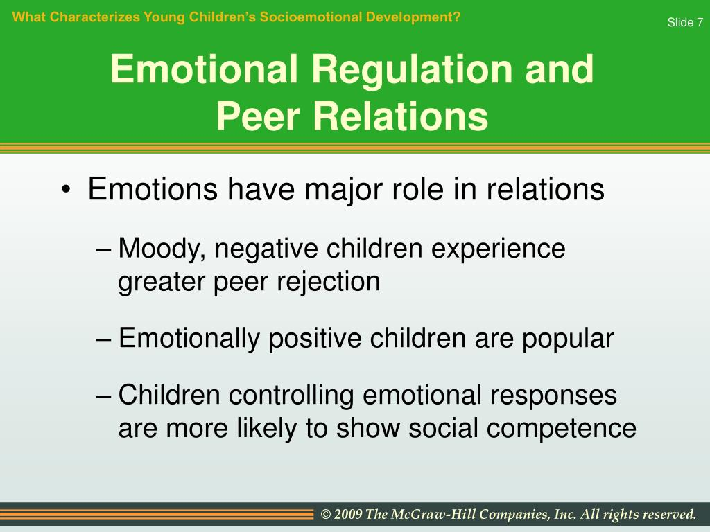 role of emotion regulation in children s development The science of emotional regulation  while genetics are important in emotion regulation development,  although acceptance of children's emotion expression.