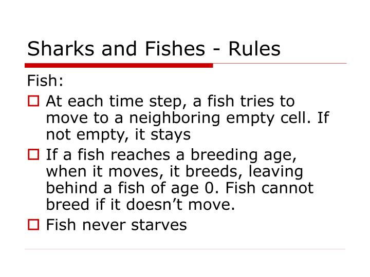 Sharks and fishes rules