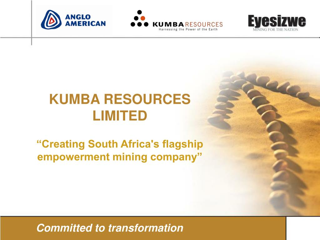 """""""Creating South Africa's flagship empowerment mining company"""""""